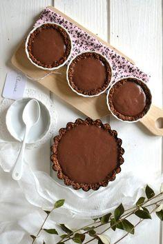 Tartelettes tout chocolat ~ Pâte crousti-fondante au muesli