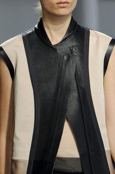 Colourblock leather panelled vest; fashion details // Reed Krakoff Spring 2013