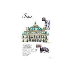 Illustrations opera garnier ❤ liked on Polyvore featuring backgrounds, drawings, fillers, sketches and city