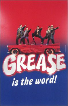 For Grease, use a model vintage car as part of centerpiece; another can be a black leather jacket