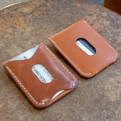 Card Holder with Flap Closure Acrylic Template Set Leather Tooling, Leather Purses, Leather Wallets, Leather Bags, Leather Bag Pattern, Leather Projects, Leather Crafts, Leather Card Wallet, Business Card Holders