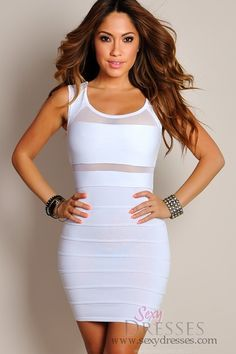 white bandage Sexy Frost White Grid Cut-Out Dress Cheap Club Dresses, Sexy Dresses, Cute Dresses, Vintage Dresses, Evening Dresses, Night Outfits, Fashion Outfits, Mens Fashion, Vegas Outfits