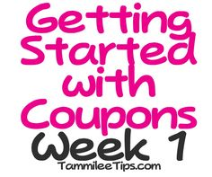 Coupons tips week by week. Pin now read later!