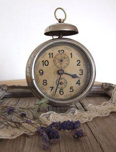 grand nostalgic vintage alarm clock on etsy by pomander, $52.  I just bought this!