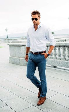 business casual look for men