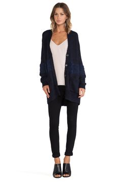 Tibi Mohair Sweater in Navy | REVOLVE