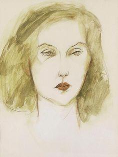 Clarice Lispector em retrato pintado em 1972 por Carlos Scliar. Veja também: http://semioticas1.blogspot.com.br/2012/10/caras-do-brasil.html