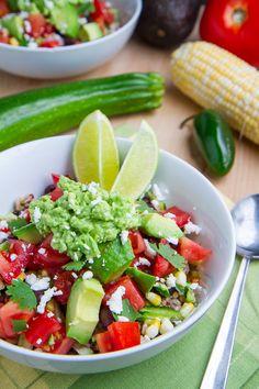 Summer Vegetable Quinoa Burrito Bowls with Corn, Zucchini and Black ...