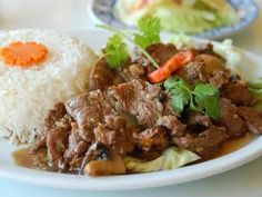 Beef recipe with oyster sauce - Nua Phat nam man hoi