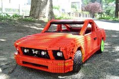car made out of legos! cool!