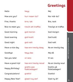 Learn how to greet in the Swedish language! Tip: Use the transliteration (in red) to perfect your pronunciation.
