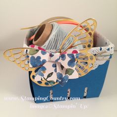 Berry Basket, Butterfly Thinlit Dies, Bow Builder Punch, Stampin' Up!