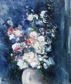 Maurice de Vlaminck ~ Vase of flowers, c.1936-38