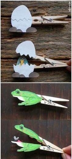 Clothes Pins Animal Craft For Kids