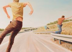 Austrian painter Bernard Ammerer combines the aesthetic of classical landscape with that of urban spaces. For Ammerer, highways, streets and their pedestrians are the new sublime. Hi Fructose, Illustration Art, Urban, Paintings, Magazine, Pintura, Paint, Painting Art, Magazines