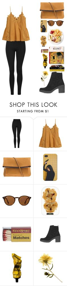 """Untitled #254"" by anessaanne ❤ liked on Polyvore featuring Topshop, H&M, Parfois, Ray-Ban, Taschen and Aesop"