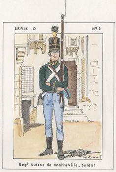 British; Regt Suisse de Watteville, Soldier, Egypt, 1800