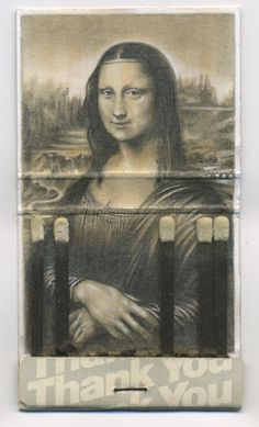 Tiny Mona Lisa Illustration Drawn Inside a Matchbook by Jason D'Aquino Mona Lisa Parody, Pop Art, Mona Lisa Smile, Famous Artwork, Detailed Drawings, Small Drawings, Art Design, Les Oeuvres, Art History