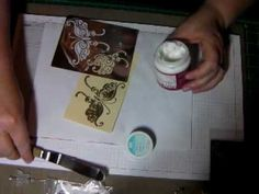 Away of using embosing paste with a stencil and then using embossing powders to emboss the design