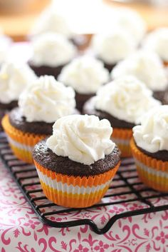 Guinness Chocolate Cupcakes with Creme de Cacao Whipped Topping