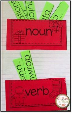 A Christmas themed noun and verb sort - perfect for literacy stations or interactive notebooks!
