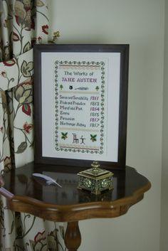 Le opere di Jane Austen Sampler  contato Kit punto croce