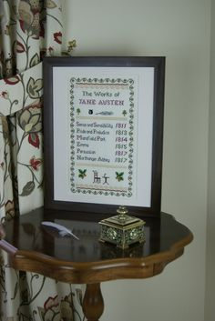 The Works of Jane Austen Sampler Counted door PhoenixNeedlecraft