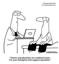 tech cartoons | ... , Fitness, and Medical Cartoons | Randy Glasbergen - Todays Cartoon