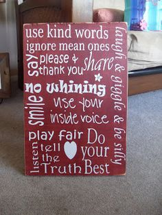 Mary's Corner: Classroom Rules sign/Teacher Gift
