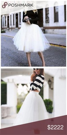 COMING SOON White Full Tulle Midi Skirt ‼️‼️ COMING SOON ‼️‼️ Please like this listing to be notified when they arrive! Skirts Midi