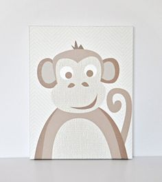 Natural Monkey  Canvas Wall Art by VickyBaroneDesigns on Etsy, $89.00