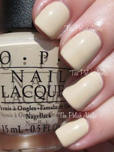 OWN: OPI Coca-Cola Collection 2014 Swatches: You're So Vain-illa from The PolishAholic. [Such a fabulous neutral! Nail Polish Designs, Nail Art Designs, Opi Nails, Nail Polishes, Manicures, Opi Collections, White Nail Polish, Nail Candy, Sexy Nails
