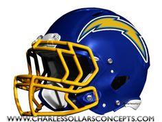 air coryell...old school colors / new school helmet.