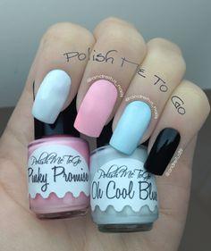 Glow in the dark nails. Pastel nail polish. Notd