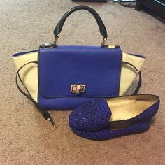 Gianni Bini trapeze handbag. Beautiful trapeze handbag comes with shoulder strap. Wear it multiple ways. Gianni Bini Bags