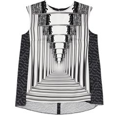 Peter Pilotto Astrid Top (51.930 RUB) ❤ liked on Polyvore featuring tops, white silk top, peter pilotto, peter pilotto tops, silk top and silk sleeveless top