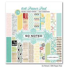 So Noted 12X12 Scrapbooking Kit Carta Bella Paper Co Author Dear Diary NEW