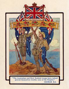 Today marks exactly 100 years since Anzac (Australian and New Zealand Army Corps) landed at Gallipoli during the First World War. Did you know that babies in Australia and New Zealand (and elsewhere) have since been namd Anzac? World War One, First World, Anzac Soldiers, Ww1 Posters, Anzac Day, Lest We Forget, Expositions, Military History, Naval History