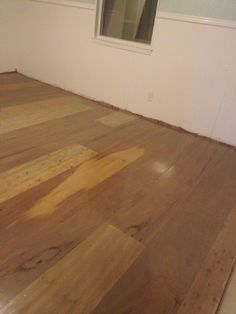 "0.27 per sq ft plywood flooring. (we already had stain and sealer) We bought 1.4"" underlayment, cut it to 1ft strips, glued it down, and used brad nails. Stained it antique oak, and sealed it."