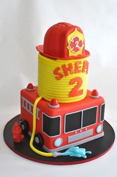 Fireman Cake, Firetruck Cake, http://hopessweetcakes.com, Hope's Sweet Cakes