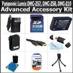 Click Here http://gadget-core.com/bestseller.php?p=B004BFG0NQ For Best Price and Cheap 32GB Advanced Accessory Kit For Panasonic Lumix DMC-ZS7, ZS10, ZS8, ZS9, DMC-3D1 Digital Camera Includes 32GB High Speed SD Memory Card + Case + Extended Replacement Panasonic DMW-BCG10 (1200 mAH) Battery + AC/DC Charger + Screen Protectors + HDMI Cable + (Electronics) Best Seller and Best Buy click image to review :D