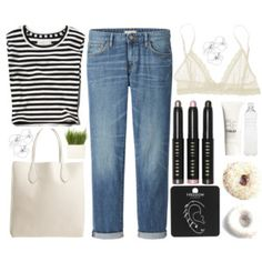 spring (replace w pink pants) Casual Weekend Outfit, Casual Outfits, Cute Outfits, Fashion Outfits, Cozy Fashion, Comfortable Fashion, Coco Chanel, Polyvore Casual, Blue Jean Outfits