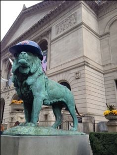 "The Art Institute of Chicago is proving to be a most boisterous Cubs fan deep in the middle of a World Series. Their time-honored tradition of ""Wreathing the Lions"" during the Christmas holidays is something I look forward to every year. These stately lions have worn Bears helmets, White... <a href=""http://www.chicagonow.com/very-terry/2016/10/the-art-ins..."