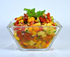Tequila-spiked Tropical Salsa - Perfect for dipping tortilla chips and even better over grilled fish, chicken or pork!