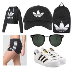 """""""Untitled #19"""" by emersenhartley on Polyvore featuring adidas, adidas Originals, Topshop and Spitfire"""