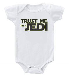 Funny Humor Custom Baby One-Piece Bodysuits Creeper Trust Me Star Wars Jedi #3