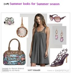 For Summer Season, the Soft Summer outfit | Found at: http://blog.prettyyourworld.com/blog/the-12-seasons-soft-summer/