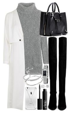 """""""Untitled #345"""" by inspirene ❤ liked on Polyvore featuring TSE, Topshop, Stuart Weitzman, Balenciaga, Burberry, Monica Vinader, NARS Cosmetics, Rebecca Minkoff and ASOS"""