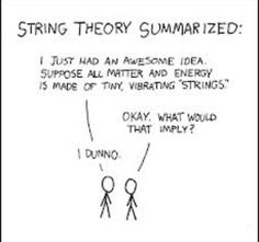 String theory is a radical idea attempting to explain the universe in ways no other idea has been able to accomplish. For many, it is a difficult concept to grasp. Here I try to make string theory a little more simplified. Theoretical Physics, Physics And Mathematics, Quantum Physics, Physics Theories, Modern Physics, Physics Quotes, Physics Humor, Engineering Humor, Math Memes