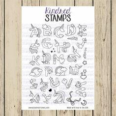 Kindred Stamps MAGICAL ALPHABET Clear Stamp Set ks2419